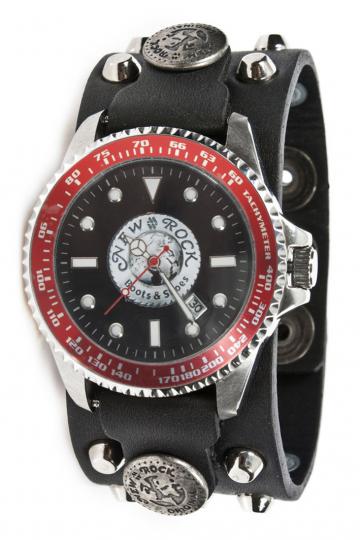 Uhr NewRock M.BRAZA-70-S1 mit abgerundeten Spitz-Nieten