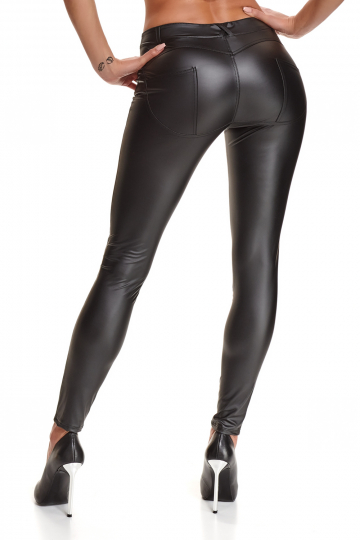 Schwarze Leggings BRGiulia001 von Demoniq Black Rose 2.0 Collection