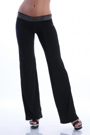Hüft Hose mit leicht ausgestellten Beinen