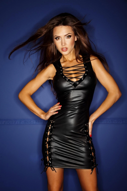 Wetlook-Kleid F079
