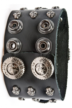 Uhr NewRock M.BRAZA-71-S1 mit Totenkopf-Nieten