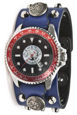 Uhr NewRock M.BRAZA-70-C3 mit abgerundeten Spitz-Nieten