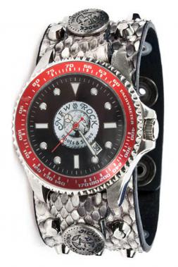 Uhr NewRock M.BRAZA-70-C2 mit abgerundeten Spitz-Nieten