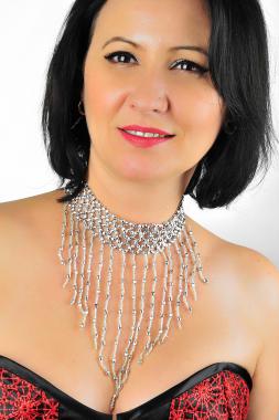 Perlen Collier silber