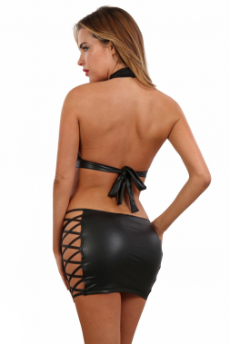 Wetlook Minirock BLK