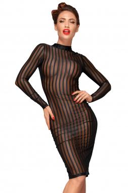 F182 Klassisches Kleid aus weichem und elastischen Tüll
