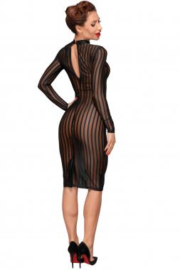 F182 Klassisches Kleid aus weichem & elastischen Tüll