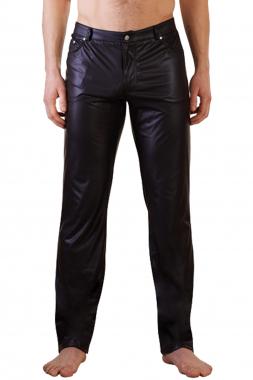 Wettlook Hose im Jeansschnitt