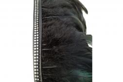 Leder Harness mit Straß besetzt und Federn