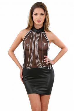 Kleid halb transparent mit Kettchen