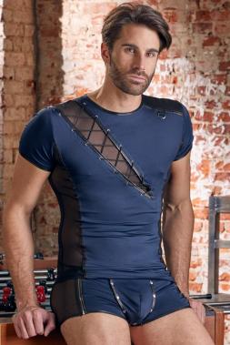 Aufsehenerregendes Shirt in Blau/Schwarz