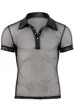 Netz-Shirt mit Wetlock-Applikationen