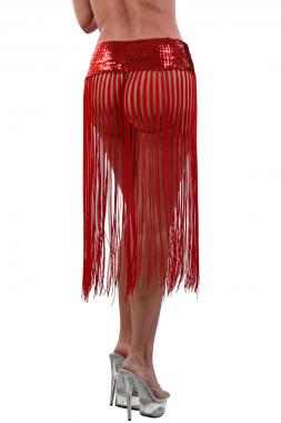 Sexy paillettenbesetztes Fransen-Top, auch als Rock zu tragen