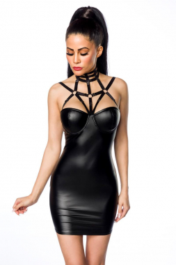 Harness-Wetlook-Minikleid 18265 von Saresia