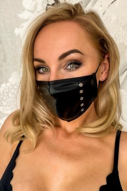 Maske 2 mit Loch-Nieten