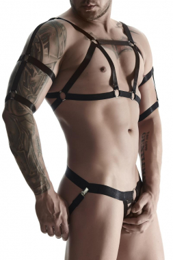 Harness SET010 schwarz von Regnes Fetish Planet