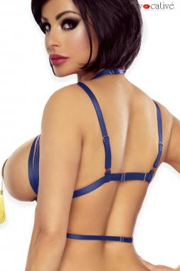 Harness ouvert Bra blau