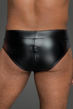 H065 Shorts mit durchgehendem Reißverschluss