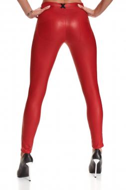 Rote Leggings BRLidia001 von Demoniq Black Rose 2.0 Collection