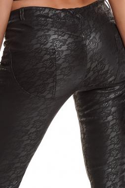 Schwarze Leggings BRConstanza001 von Demoniq Black Rose 2.0 Collection