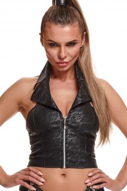 Schwarzes Top BRLudmila001 von Demoniq Black Rose 2.0 Collection