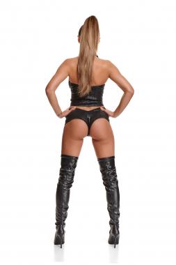 Schwarze Damen-Shorts BRAlex001 von Demoniq Black Rose 2.0 Collection