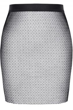 Schwarz/Silberner Minirock STGinevra001 von Demoniq Silver Touch Collection