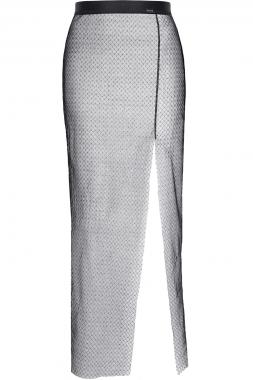 Langer Schwarz/Silberner Rock STChiara001 von Demoniq Silver Touch Collection