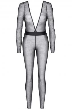 Schwarz/Silberner Jumpsuit STEdvige001 von Demoniq Silver Touch Collection