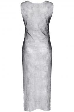 Schwarz/Silbernes Kleid STIolanda001 von Demoniq Silver Touch Collection
