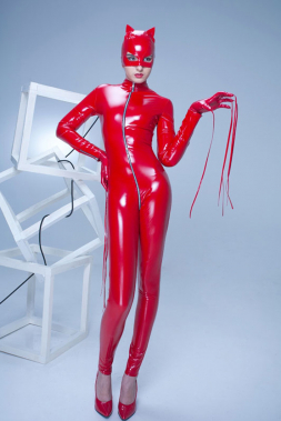 Lack-Catsuit SWEETY Rot