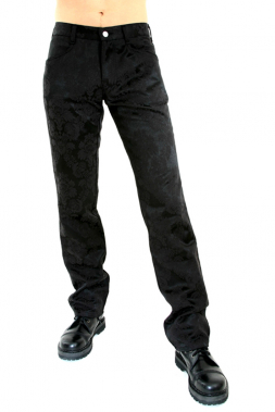 Jeans Brocade Schwarz