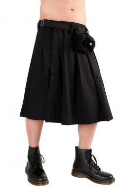 Black Pistol Short Kilt Denim